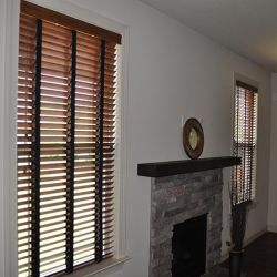 2 Stained Blinds With Tapes Room