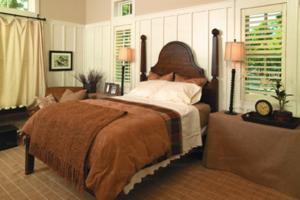 window treatments in a bedroom